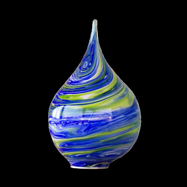 Gartenzwiebel Blau-Grün mit M10er Gewinde