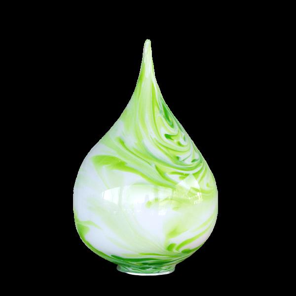 Zwiebel aus Glas Weiß-Grün