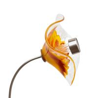Kombiprodukt Solarblume Gelb-Orange-Rot mit Solarleuchte...