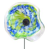 Kombiprodukt Solarblume Blau-Grün mit Solarleuchte...