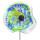Kombiprodukt Solarblume Blau-Grün mit Solarleuchte und Stab