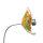 Kombiprodukt Solarblume Grün-Gelb-Orange mit Solarleuchte und Stab