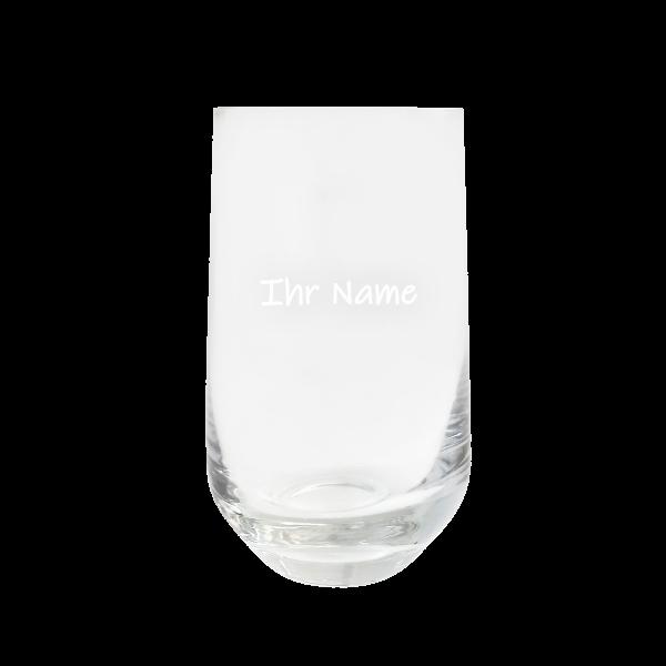 Vier Jahreszeiten Trinkglas mit Gravur