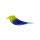 Vögelchen Blau-Grün mit M6er Gewinde